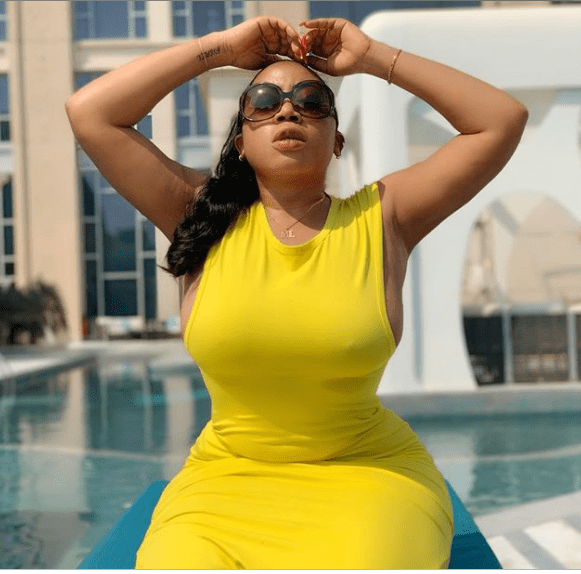 Moyo Lawal Express Emotion Over Her 'Single Status' (Picture)