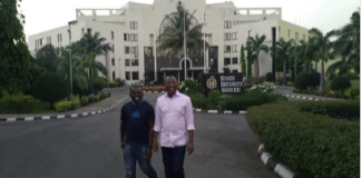Omoyele Sowote being escorted out of DSS faci