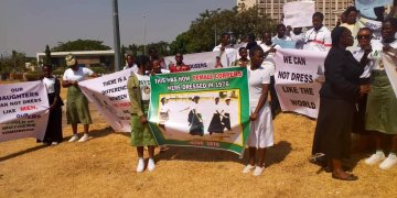 Group Launch Protest To Allow NYSC Ladies Wear Skirt (Images)