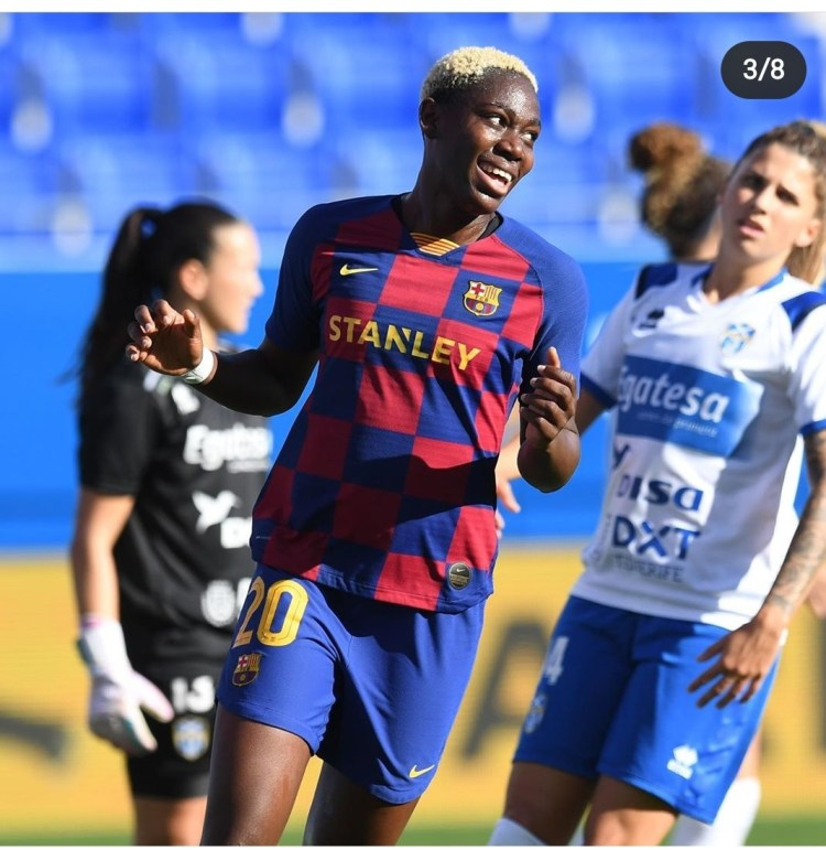 Asisat Oshoala Scores Four In Barca's Romp