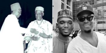Shehu Shagari's Grandson Poses With Seyi Awolowo (Picture)