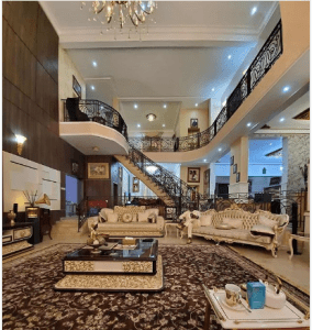Photo of the interior of Dino Melaye's sitting room