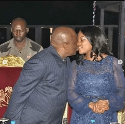 5 Times Governor Wike Kissed His Wife In Public (Images)