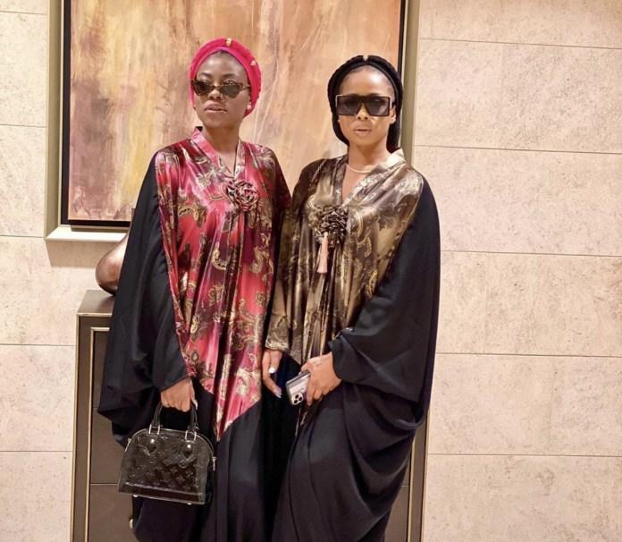 Fashion entrepreneurs, Sophia Momodu and Queen Ajoke