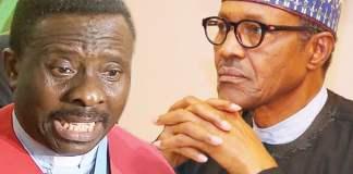 CAN President, Samson Ayokunle and President Buhari
