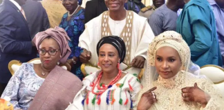 El-Rufai and his three wives, Hadiza, Asia and Ummi