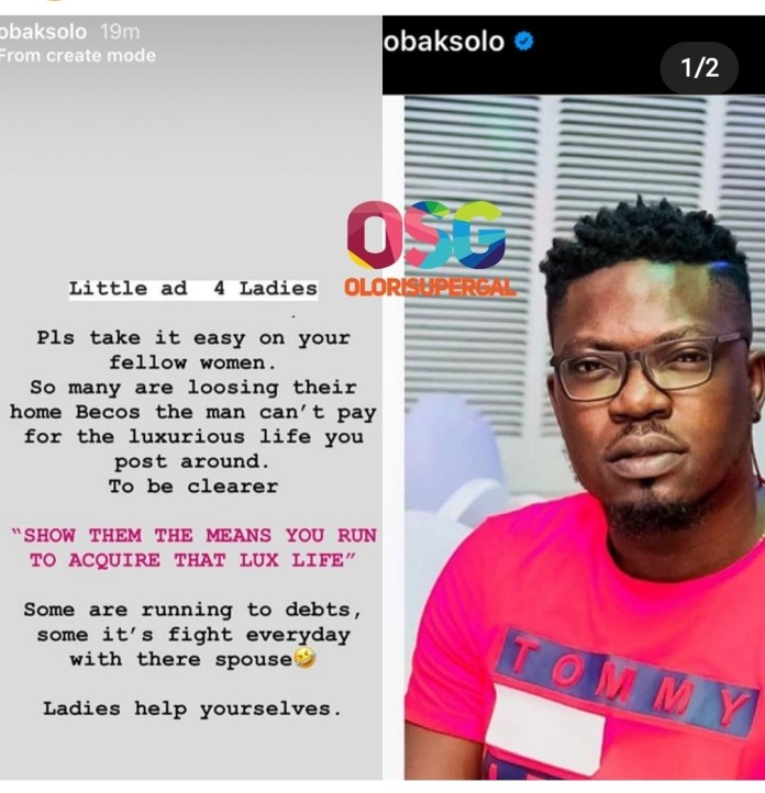 Screenshot 20200224 184411 Instagram - Ksolo Sends Memo To Women Flaunting Luxurious Lifestyle On Social Media