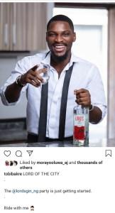 Screenshot 20200228 165302 Instagram - Tobi Bakre Becomes Lord's First Brand Ambassador