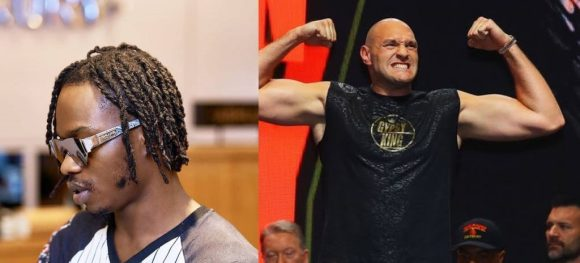 Naira Marley Hangs Out With Tyson Fury (Video)