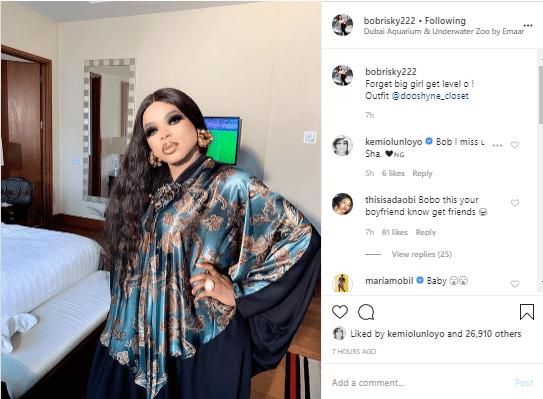 bo 1 - Reactions As Bobrisky Shares New Photo On Instagram
