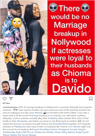 p 2 - There Would Be No Marriage Break Up In Nollywood If Actresses Were Loyal To Their Husbands As Chioma Is To Davido, Says Maduagwu