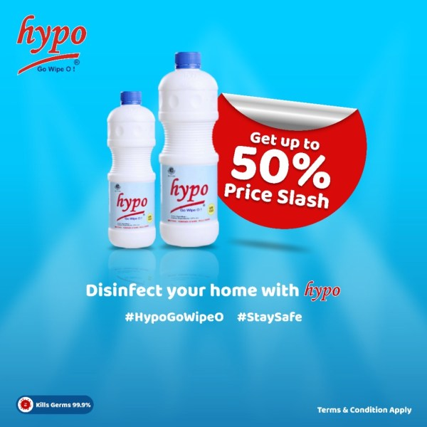 Hypo Bleach Slashes Price To Encourage Safer Environment Against Covid-19