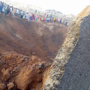 Scene from the explosion in Akure