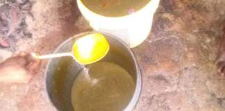 Photo of the soup inmates are allegedly served at Kaduna Prison