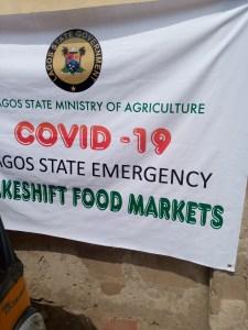 Lagos state government makeshift market