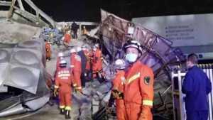 coronavirus hotel collapses in China