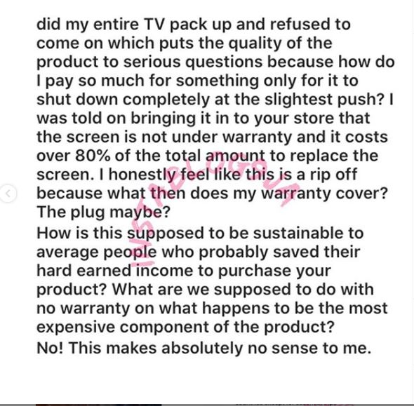 Ramsey Nouah Calls Out LG Over Damaged N500K TV
