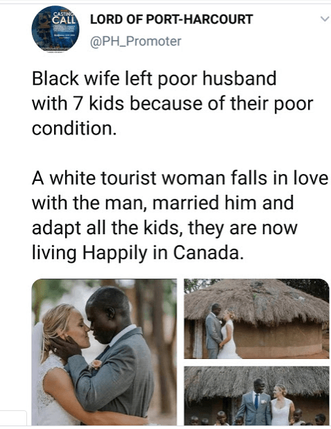 s - Canadian Tourist Marries African Man Whose Wife Abandoned Him With 7 Kids Because Of Poverty