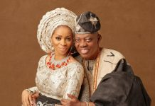 shade Okoya and husband
