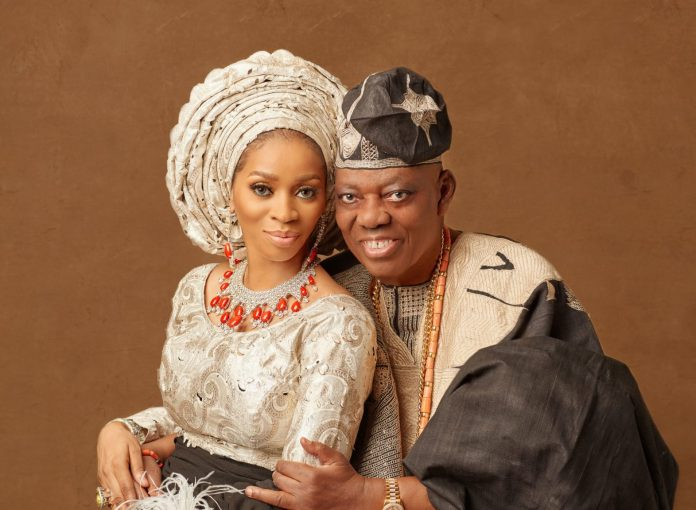 shade Okoya and husband