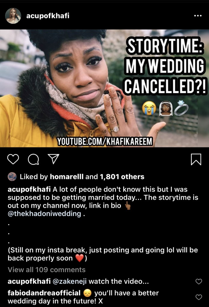 The reality star's post