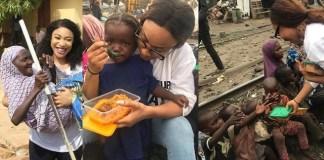 Tonto Dikeh feeds the less privilege