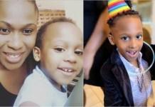 Uche Jombo and her son