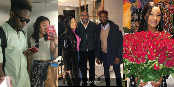 Collage photo of Femi Otedola, Mr Eazi and Temi