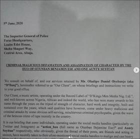 D'Banj Petitions IGP Over Rape Allegation; His Accuser Demands Public Apology