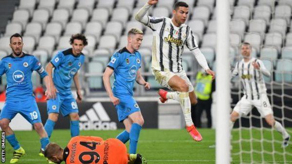 Ronaldo Hits 20th League Goal In Win Over Spezia