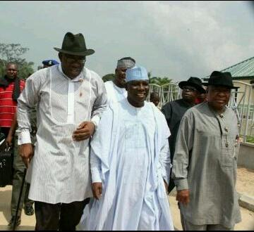 Seriake Dickson With Patrick Yakowa At The Burial Of Presidential Aide, Oronto Douglas' Father In Bayelsa