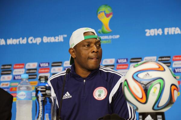 """Stephen Keshi Has Described The NFF New Offer as """"a  Slave Contract"""". Image: Getty."""