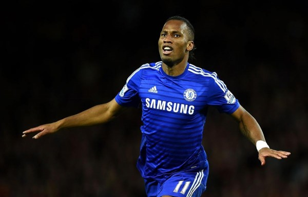 Didier Drogba Celebrates His Fourth Goal in Nine Meetings Against Spurs. Image: Getty.