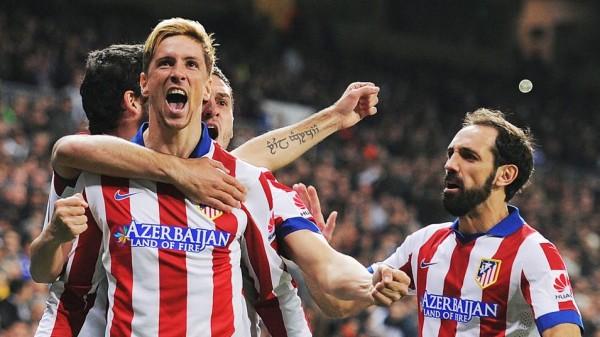 Fernando Torres Celebrates Scoring at the Santiago Bernebeu in the Copa del Rey. Image: Getty.
