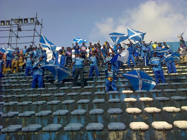 Enyimba FC Supporters During a Continental Game.