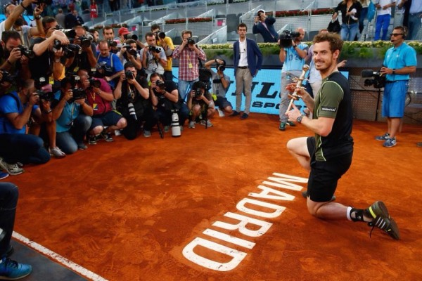 Andy Murray Ends Nadal Hoodoo To Clinch His Second Clay Title in Madrid. Image: Getty.