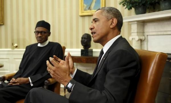 Obama meets Nigerian President Buhari in Washington