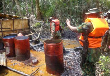 illegal refinery