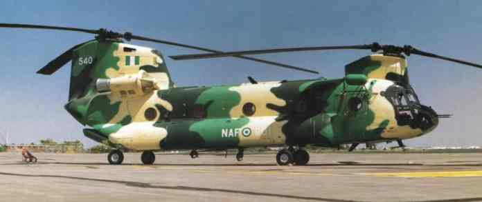 Nigerian Airforce helicopter
