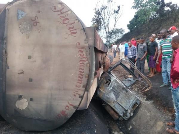 Petrol Tanker Crash In Akwa Ibom