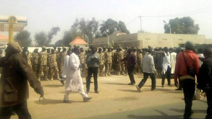 soldiers surround Shiites gathering in Kaduna