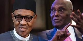 President Buhari and Atiku Abubakar