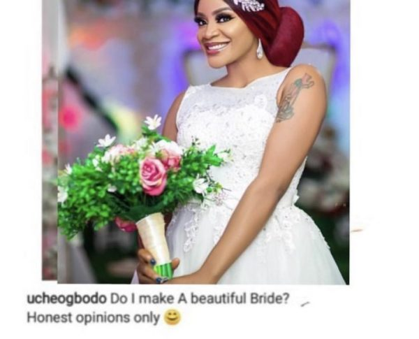 Actress Uche Ogbodo drags troll who said she will not make a beautiful bride