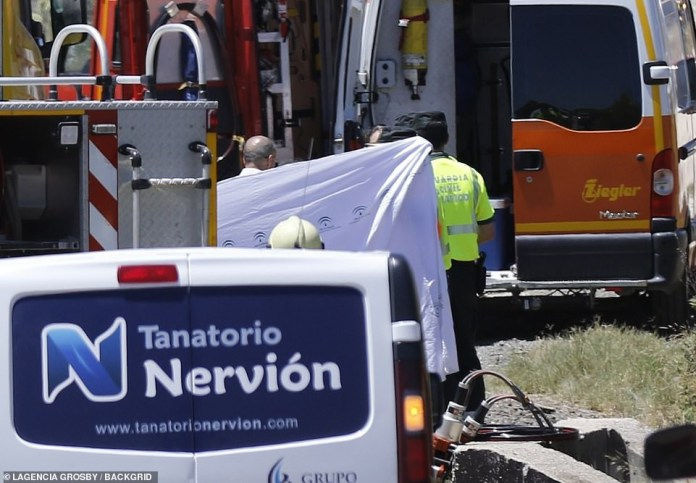[Photos]: Images from the crash site Jose Antonio Reyes died has surfaced online