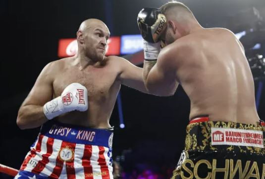 Tom Schwarz defeated by Tyson Fury defeats with a second-round TKO
