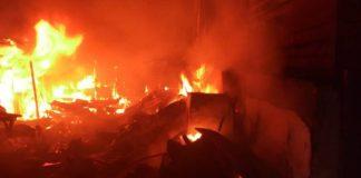 Ojodu Market On Fire