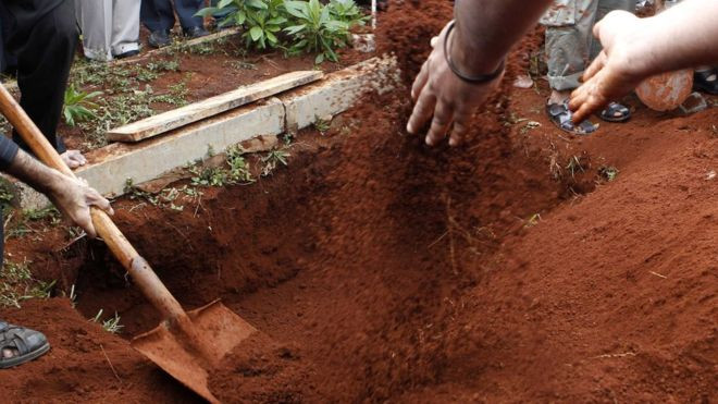 Dead Body Of A Kenyan Ofiicer Exhumed To Retrieve Uniform
