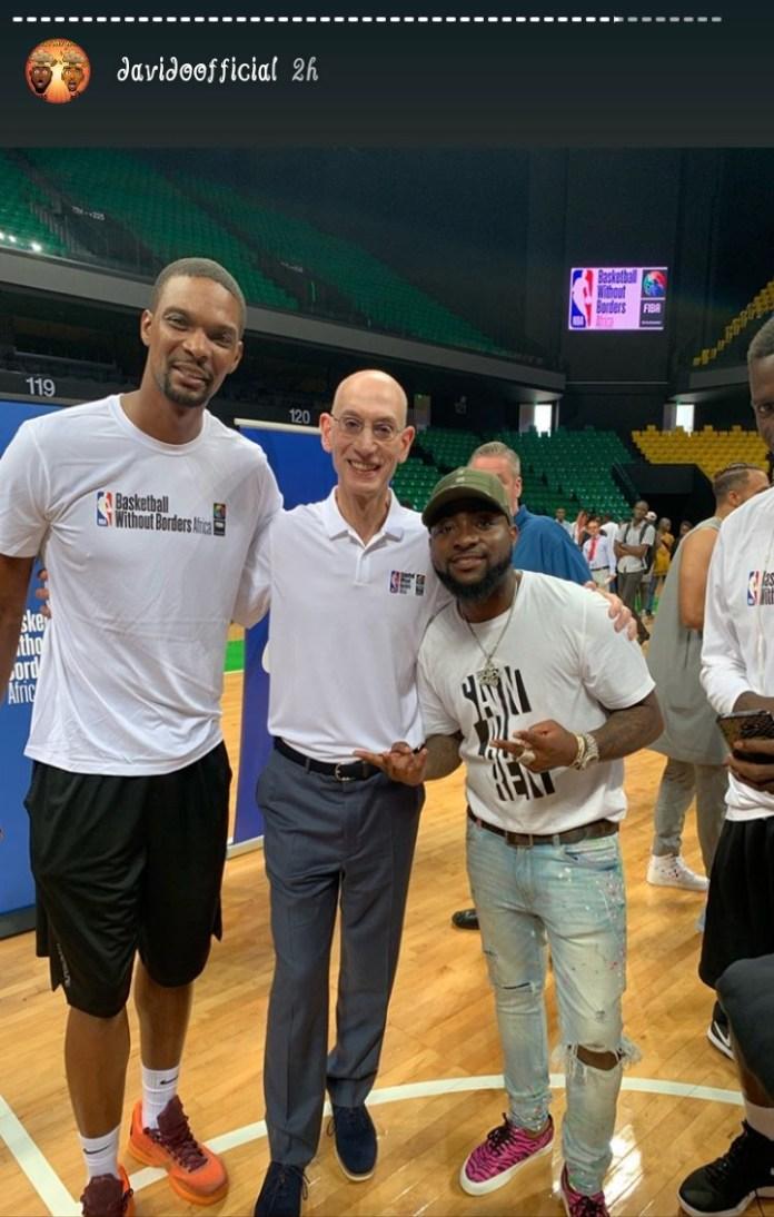 Davido and The NBA players