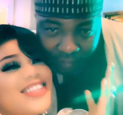 Toyin Lawani and her first baby daddy