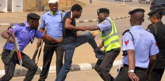 police and shiite clash